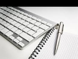 writing keyboard and pen
