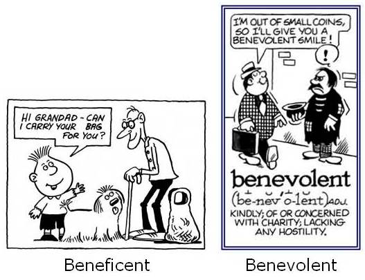 beneficient-benevolent